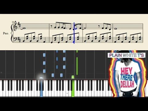Plain White T S Hey There Delilah Easy Piano Tutorial Sheets