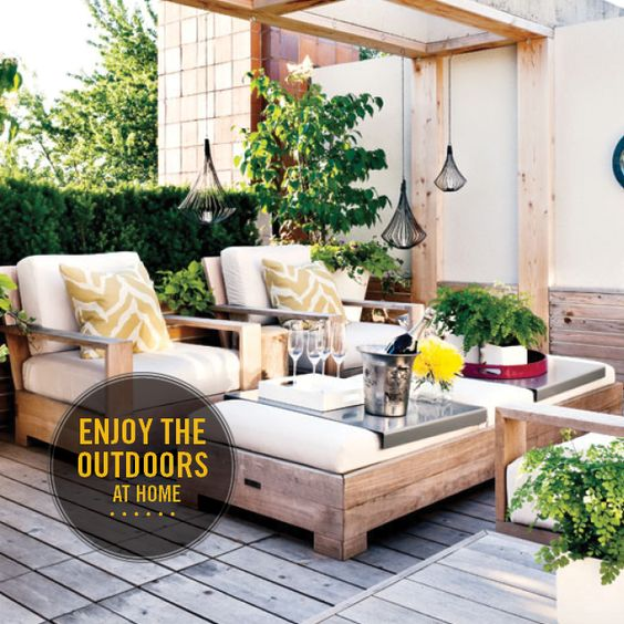Three tips to enjoy the outdoors at home  #outdoors   #century21   #home  .  Enjoying the outdoors is at the top of many people's list of priorities. Unfortunately, we don't always have the time to head off for a day at the beach, bushwalking or camping out. However, enjoying the outdoors from the comfort of your own home can easily be achieved by taking a few simple steps to ensure you have a practical and pleasant outdoor living space.