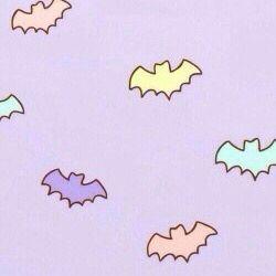 Pastel Goth bats wallpaper.