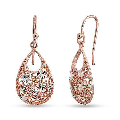 Stylish Stud Rose Gold plated Hoop Earrings Zirconia Crystal Jewelry for Women Girls Gemstones