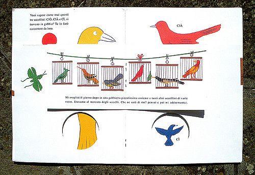 A Tale of Three Little Birds, 1945, republished by Corraini.  theanimalarium.blogspot.com/