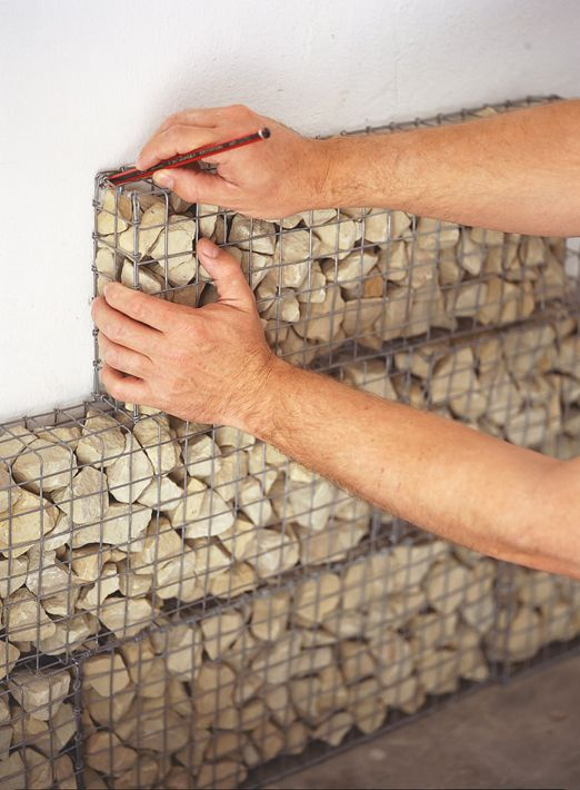 Gabion wall Sand art and Rocks on Pinterest