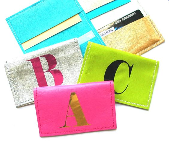 @Erika Waters  Metro Leather Business Card Holder TM, Initial Business Card Wallet, Credit Card Holder,  ID Card Holder, Credit Card Wallet - Straight Edge. $16.00, via Etsy.