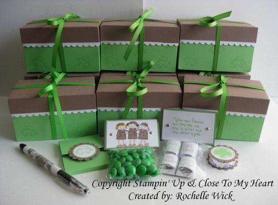 crazy cute - peppermint patty candy sandwich, chocolate bars, green m, notepad, pen