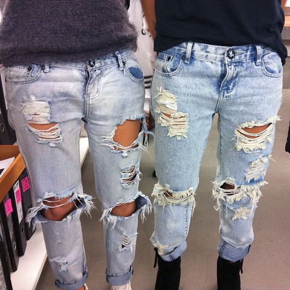 All torn up. Shop One Teaspoon jeans at THE DRESLYN http://www ...