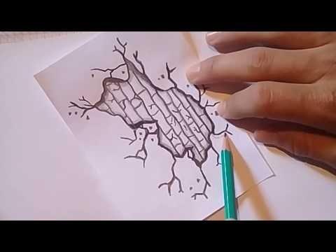 تعلم الرسم للمبتدئين رسم تشقق في الحائط بالقلم الرصاص Youtube Simple Art Girly Art Art