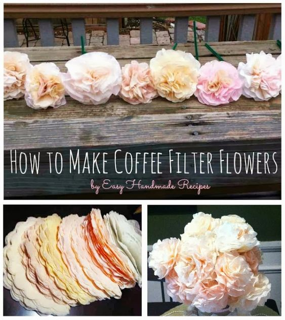 @katelynrose016 - This might be cheaper than the tule but we'd have to dye them.  Easy DIY Coffee Filter Roses - try it three different ways