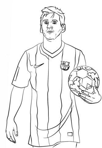 Dibujos Para Colorear De Messi Messi Dibujo Imagenes De Lionel Messi Futbol Para Colorear