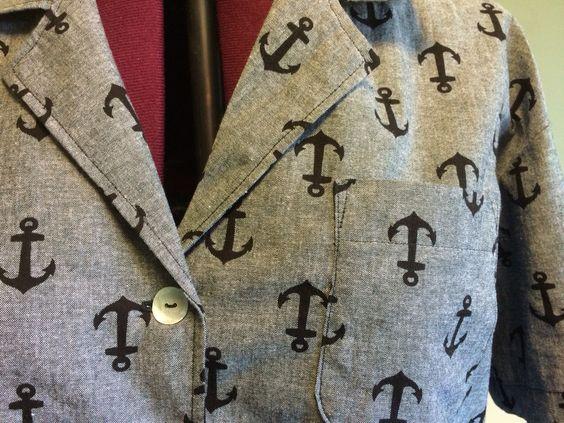 Black chambray camp shirt detail