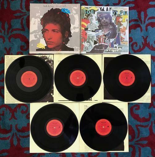Details About Bob Dylan Biograph 5 Lp Box Set W Book Inner Lyric Sleeves Times Are A Changin Lp Box Bob Dylan Boxset