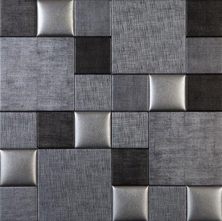 Leather wall wall tiles and muse on pinterest for Faux leather floor tiles