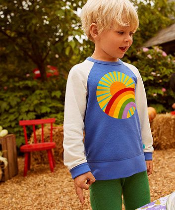 Little Bird by Jools Rainbow Sweat Top | t-shirts & tops | Mothercare