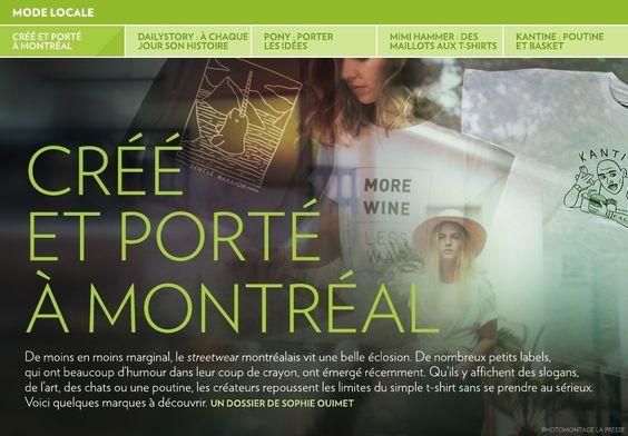 Créé et porté à Montréal - La Presse+