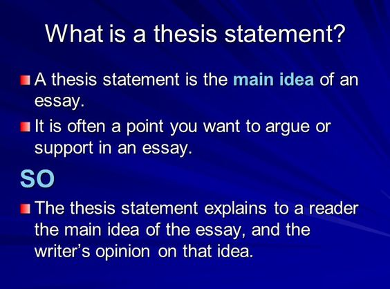 controlling statement essay
