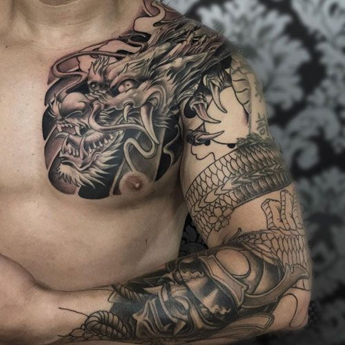 Shoulder Tattoos For Men Tribal Chest Tattoos Cool Chest Tattoos Chest Tattoo Men