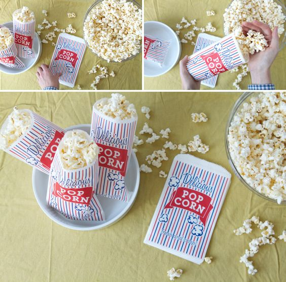free printable: popcorn bag template  {Oh Happy Day}
