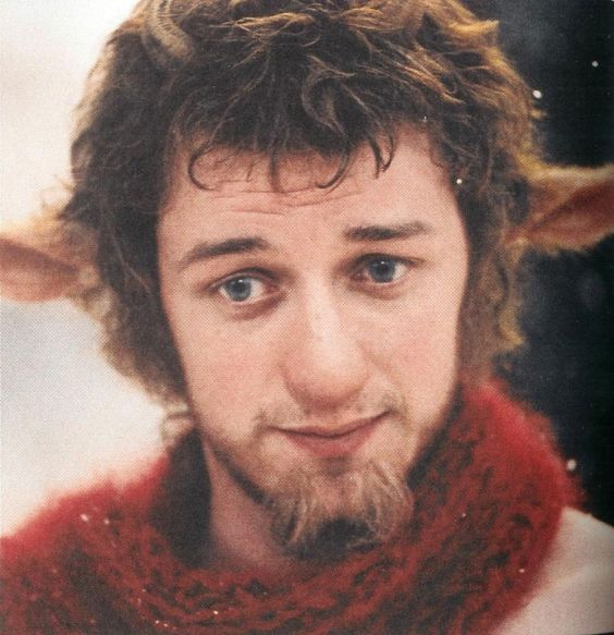 Quite fond of James McAvoy across the board, but I had to pin him in Mr. Tumnus mode, because who doesn't love Mr. Tumnus?:
