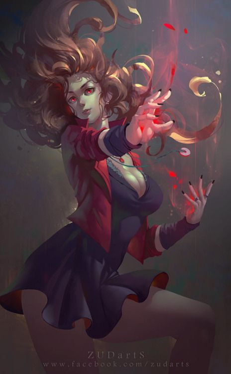 Scarlet Witch byZudarts Lee Amazing anime photography