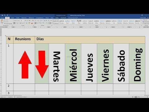 Como Poner Un Texto En Forma Vertical En Una Tabla Word Youtube Trucos De Excel Computacion Rutinas En Ingles