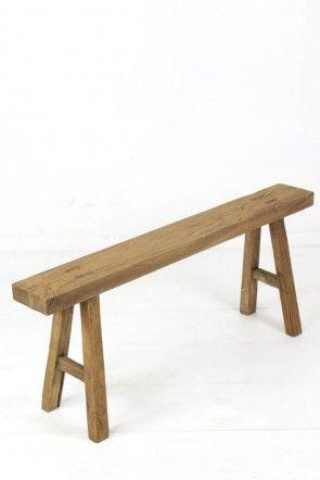 Wunderschönen Holzbank Ohne Lehne | Gartenbänke Ideen