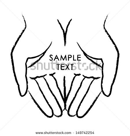 Woman Open Hand | Giving Hands Logo Vector hands icon ...