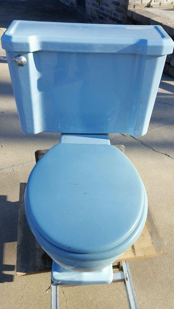 Dark Blue Toilet