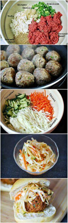 Korean Meatball Sliders    Uma receita que pretendo adaptar para ingredientes mais facilmente encontrados na região norte do Brasil.