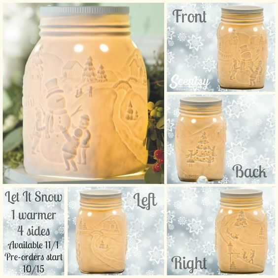 #Scentsy November 2015 #WOTM, Let it Snow. Get your warmer this month for 10% off. https://yvonnesanya.scentsy.us