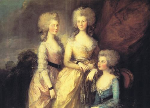The three eldest daughters of George III, Princesses Charlotte, Augusta and Elizabeth (1784) by Thomas Gainsborough