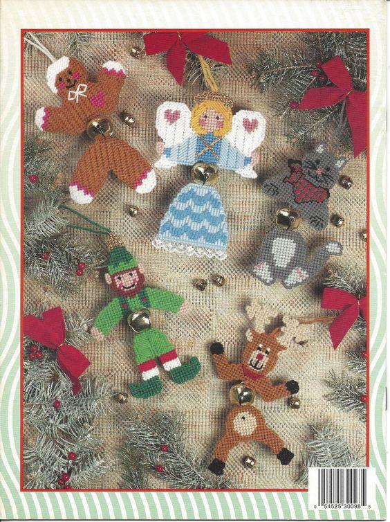 Jingle Bell Buddies Plastic Canvas Pattern by KnitKnacksCreations