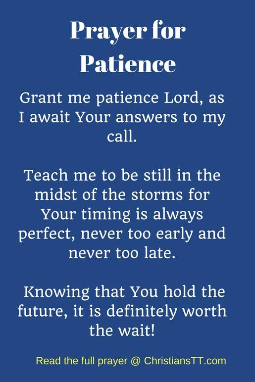 Prayer for Patience   Prayers for patience, Prayer quotes positive, Prayers  for strength