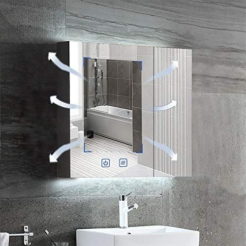Lyxdzw Bathroom Mirror Cabinet Illuminated Mirror Wall Illuminated Led Bathroom Mirror With Bu In 2020 Led Mirror Bathroom Illuminated Mirrors Bathroom Mirror Cabinet