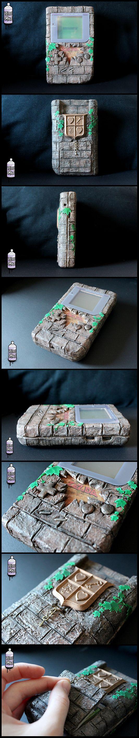 "Custom Game Boy Zelda - ""Brick"" Nes edition x Game Watch by Vadu Amka from Belgium"