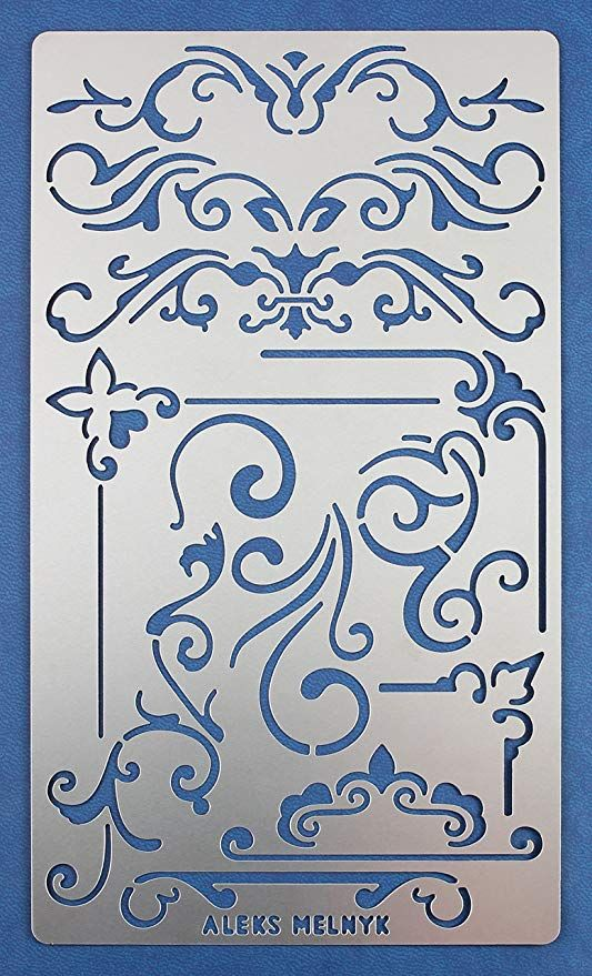 Crafting Notebook Wall Fabric CrafTreat Stencil Home Decor Tile Reusable Painting Template for Journal Scrapbook and Printing on Paper Baby Background Floor DIY Albums Wood 6x6 inches