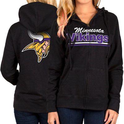 Minnesota Vikings Women's Full Zip Hoodie �C Black | Vikings ...
