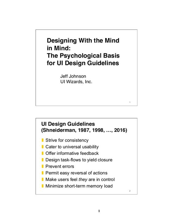 UI design guidelines are not simple recipes. Applying them effectively requires determining guideline applicability and precedence and balancing trade-offs whe…
