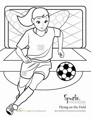 Soccer, Coloring and Fairies on Pinterest