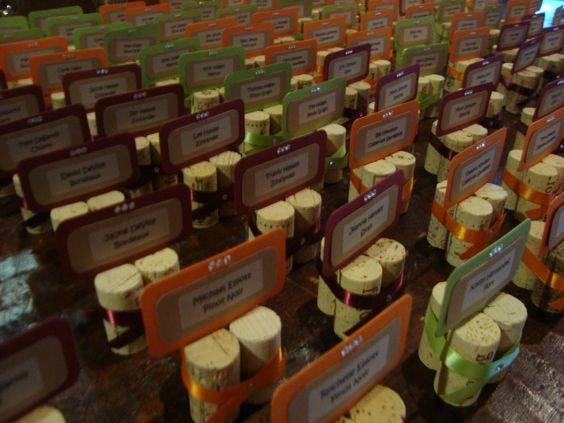 Corks: Talk Cards or Place Cards