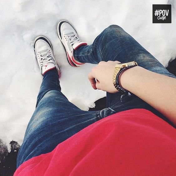 """#POVoutfit shot by @alegio98  || @jumpman23 @nikesportswear #Jordan3 #FireRed3 @casio_us"""