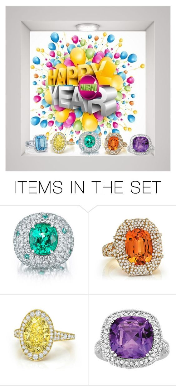 """""""Ring In The New Year"""" by sjlew ❤ liked on Polyvore featuring art"""