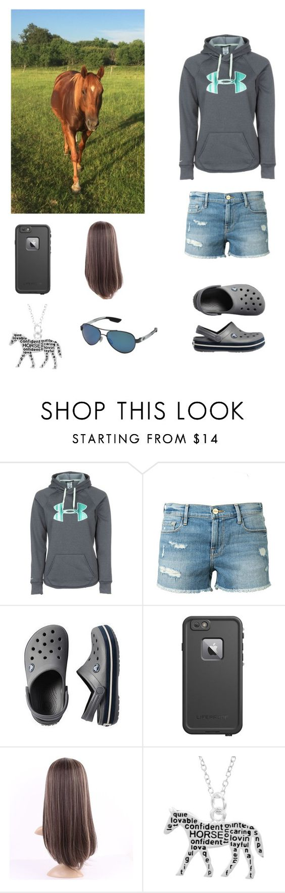 """I love my horse"" by jazzywiggles ❤ liked on Polyvore featuring Under Armour, Frame Denim, LifeProof and Costa"