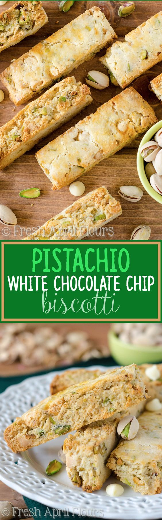 ... dotted with salty pistachios and sweet, creamy white chocolate chips
