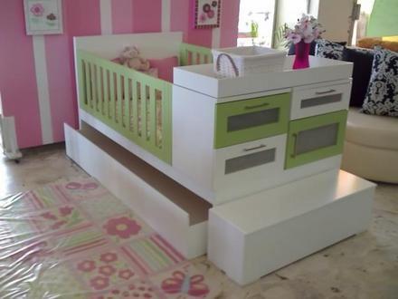 Cama cuna minimalista con doble cama guadalajara jalisco for Camas infantiles dobles
