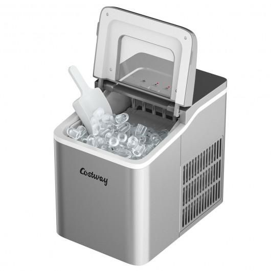 Portable Countertop Ice Maker Machine With Scoop Silver In 2021 Ice Maker Machine Portable Ice Maker Ice Maker