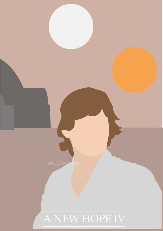 """Kelsey ✨ on Twitter: """"@HamillHimself Some minimalist posters I created of Luke Skywalker throughout the Original Trilogy ☺️ https://t.co/29jrGktO7F"""""""