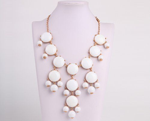 Bubble Necklace, Statement Necklace, Bubble Jewelry(Fn0508-M-Pure White) - See more at: http://jewelry.florentt.com/jewelry/necklaces/y-necklaces/bubble-necklace-statement-necklace-bubble-jewelryfn0508mpure-white-com/#sthash.gWu2X0T2.dpuf