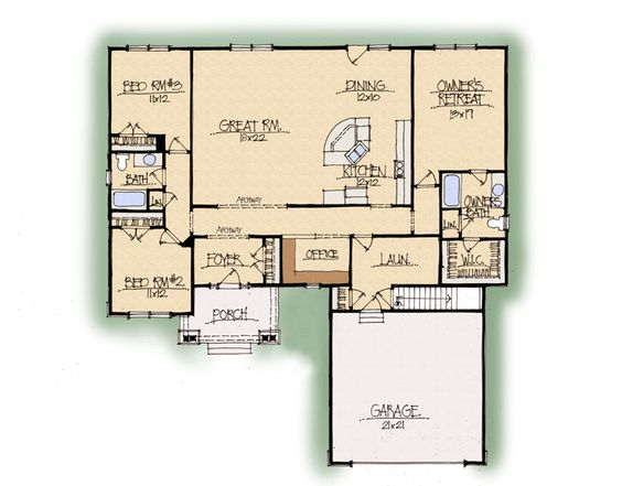 perfect open floor plan large great room and kitchen with