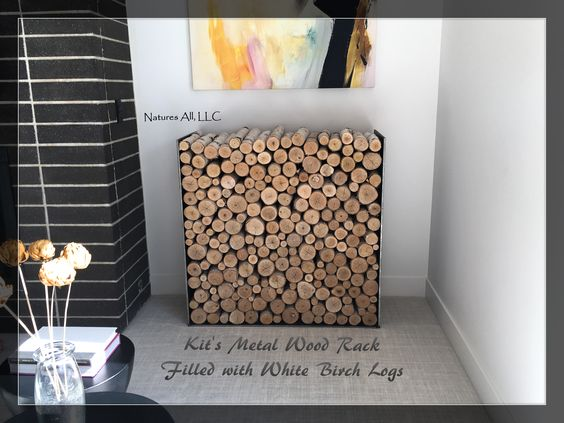 If you have a metal wood rack like Kit's that you would like to fill with logs.... contact Natures All, LLC today. We will send you a free quote!! https://www.etsy.com/shop/NaturesAllLLC?ref=hdr_shop_menu
