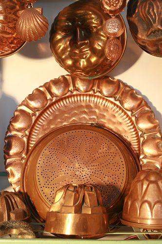 Copper pots & pans 2 by StudioRedChile, via Flickr