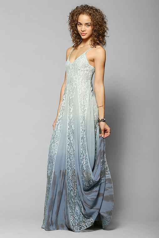 Kimchi Blue Beyond The Sea Lace-Inset Maxi Dress